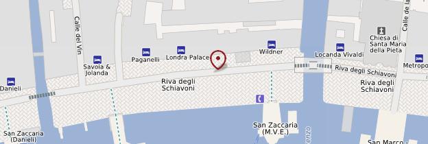 Carte Riva degli Schiavoni - Venise