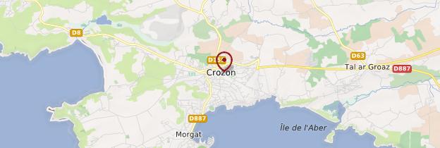 Carte Presqu'île de Crozon - Bretagne