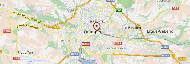 Carte Quimper (Kemper) - Bretagne