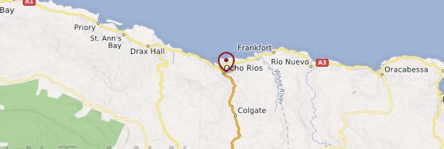 Carte Ocho Rios - Jamaïque