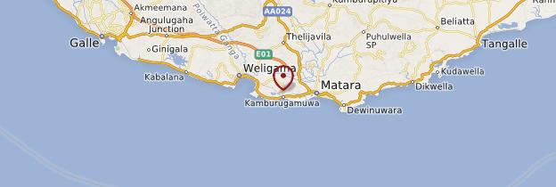 Carte Matara - Sri Lanka