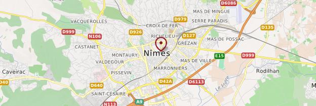 Carte Nîmes - Languedoc-Roussillon