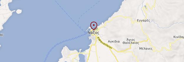 Carte Île de Naxos - Îles grecques