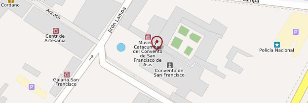 Carte Basílica y convento de San Francisco de Asís - Lima