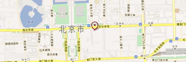 Carte Place Tian'anmen - Pékin (Beijing)