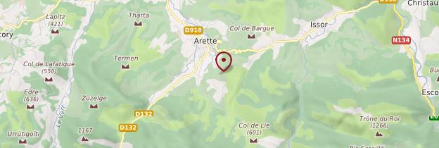Carte Vallée du Barétous - Pays basque et Béarn