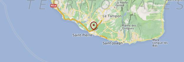 Carte Saint-Pierre - Réunion