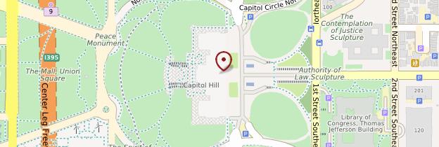 Carte Capitole - Washington DC