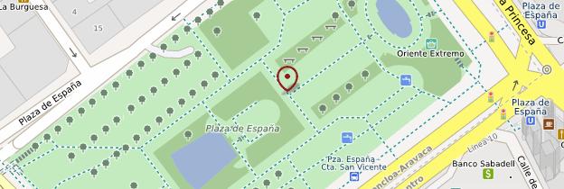 Carte Plaza de España - Madrid