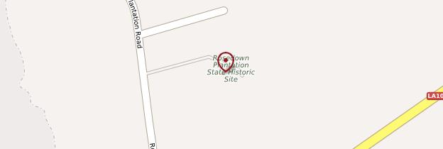 Carte Rosedown Plantation - Louisiane