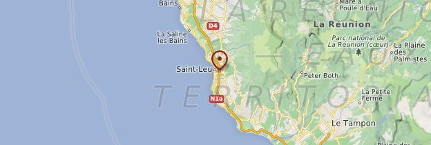 Carte Saint-Leu - Réunion