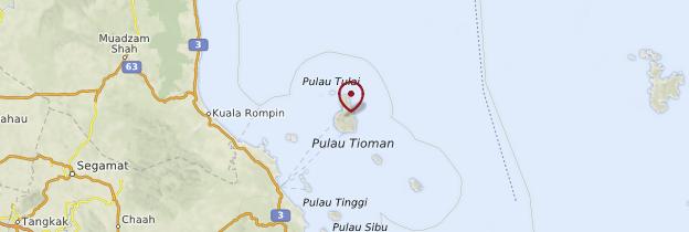 Carte Île de Tioman - Malaisie