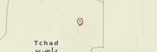 Carte Ennedi - Tchad