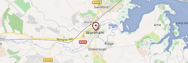 Carte Wareham - Angleterre