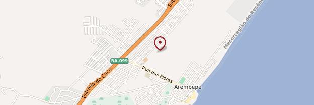 Carte Arembepe - Brésil