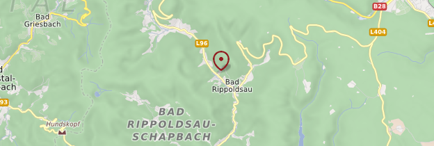Carte Bad Rippoldsau-Schapbach - Allemagne