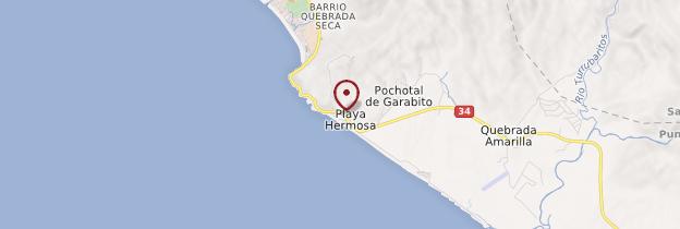 Carte Playa Hermosa - Costa Rica