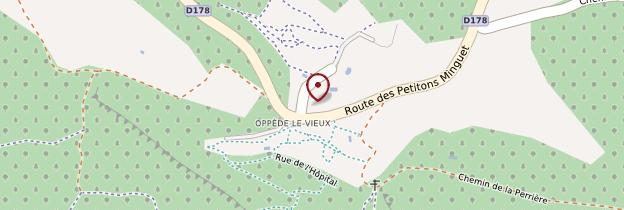 Carte Oppède-Le-Vieux - Provence