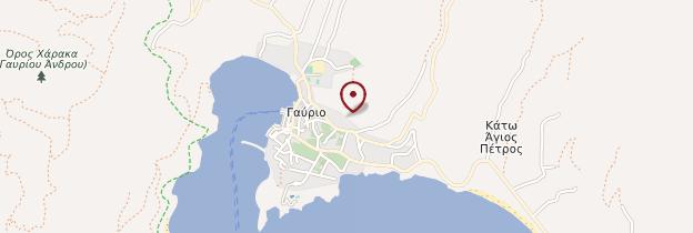 Carte Gavrio - Îles grecques