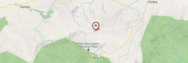 Carte Parc national du Mont Balé - Éthiopie