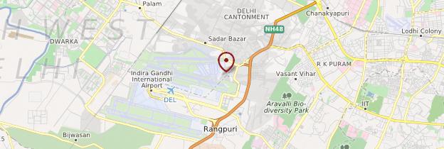 Carte Aéroport international Indira Gandhi - Delhi