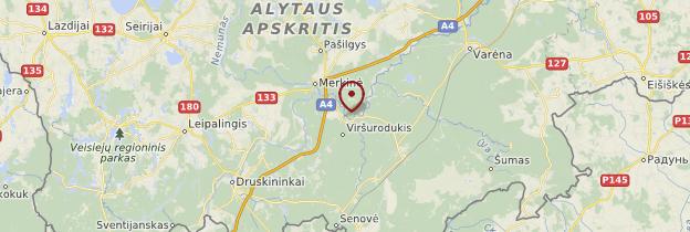 Carte Dzukijos Nacionalinis Parkas (Parc National de la Dzukija) - Lituanie
