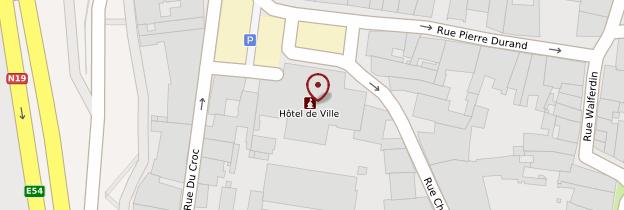 Carte Hôtel de Ville - Champagne-Ardenne