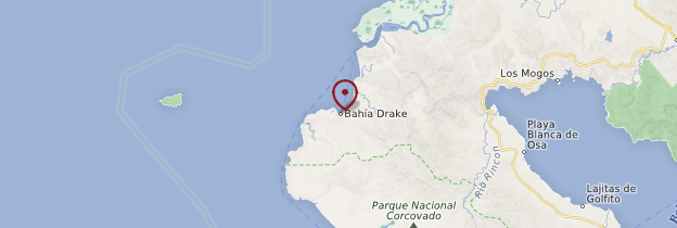 Carte Bahia Drake - Costa Rica