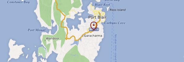 Carte Port Blair - Inde