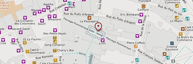 Carte Passage Pommeraye - Nantes