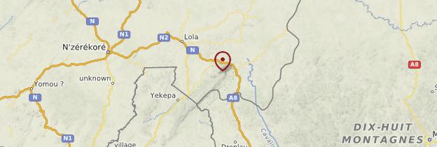Carte Mont Nimba - Guinée