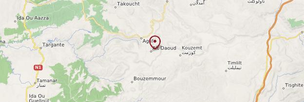 Carte Aït Daoud - Maroc
