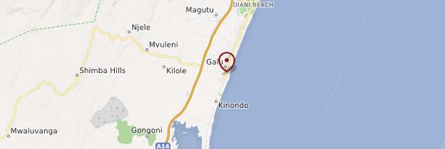 Carte Galu Beach - Kenya
