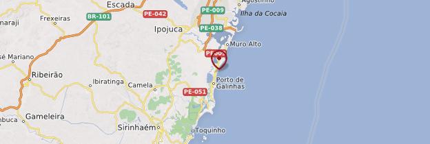 Carte Porto de Galinhas - Brésil