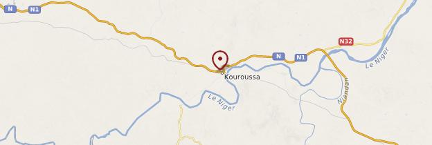 Carte Kouroussa - Guinée