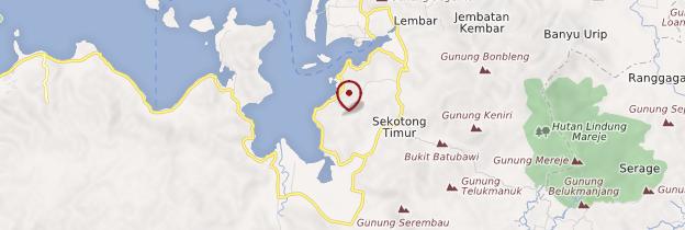 Carte Lembar - Indonésie