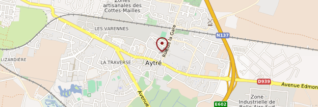 Carte Aytré - Poitou, Charentes