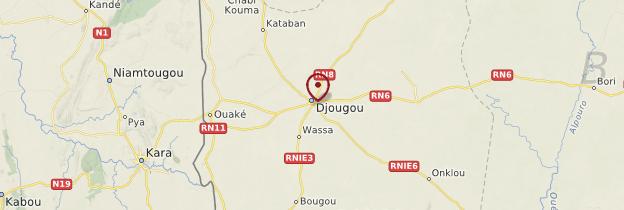 Carte Djougou - Bénin