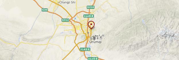 Carte Ürümqi - Chine