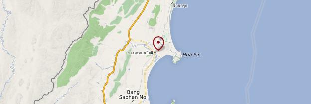 Carte Bang Saphan - Thaïlande