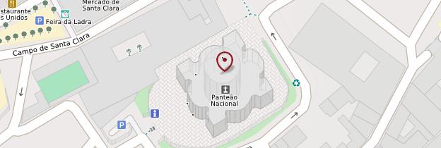 Carte Panteão Nacional (Panthéon national) - Lisbonne
