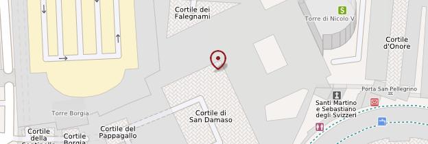 Carte Chambres de Raphaël - Rome