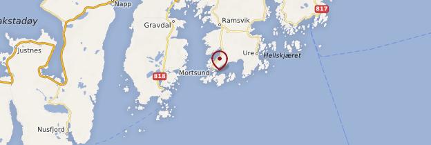 Carte Mortsund - Norvège