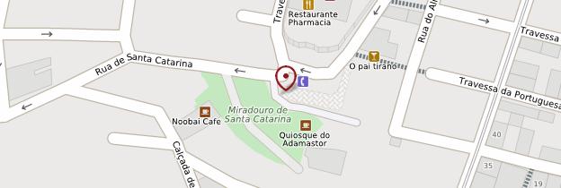 Carte Miradouro de Santa Catarina - Lisbonne