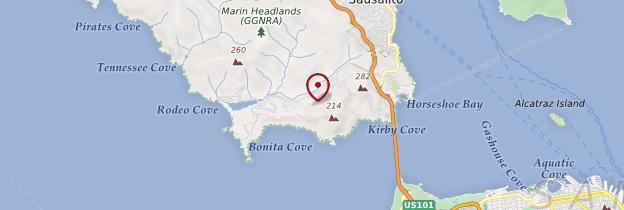 Carte Golden Gate National Recreation Area - Californie