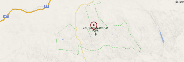 Carte Matobo National Park - Zimbabwe