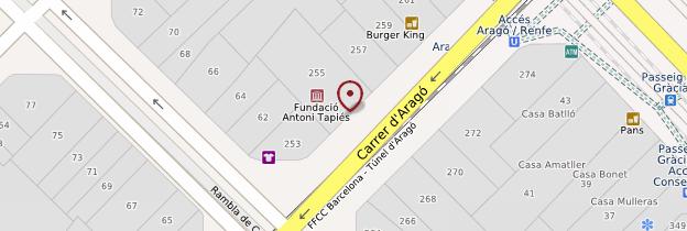 Carte Fundacio Antoni Tàpies - Barcelone