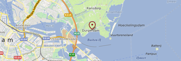 Carte Durgerdam - Pays-Bas