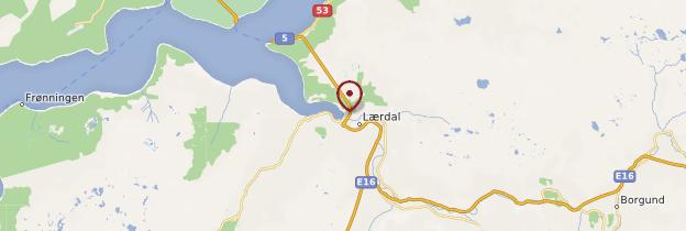 Carte Lærdal - Norvège