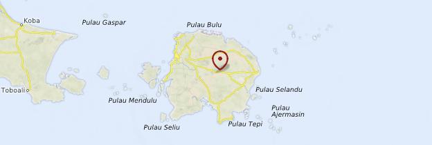 Carte Belitung - Indonésie